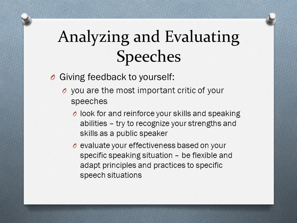 self evaluation essay on public speaking Our latest product, business presentation and public speaking skills for non-native speakers (esl-english as a second language) helps you learn to better prepare for your business presentations and business public speaking opportunities in the united states.