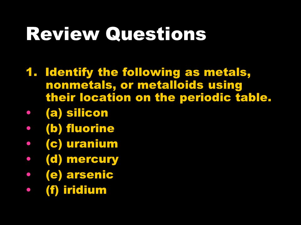 Properties of Metals, Nonmetals, and Metalloids - ppt video online