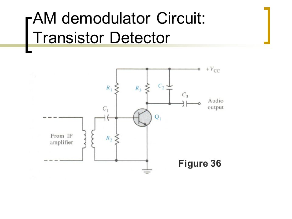 Am demodulation or am reception and am noise ppt video online download 10 am demodulator circuit transistor detector publicscrutiny Gallery