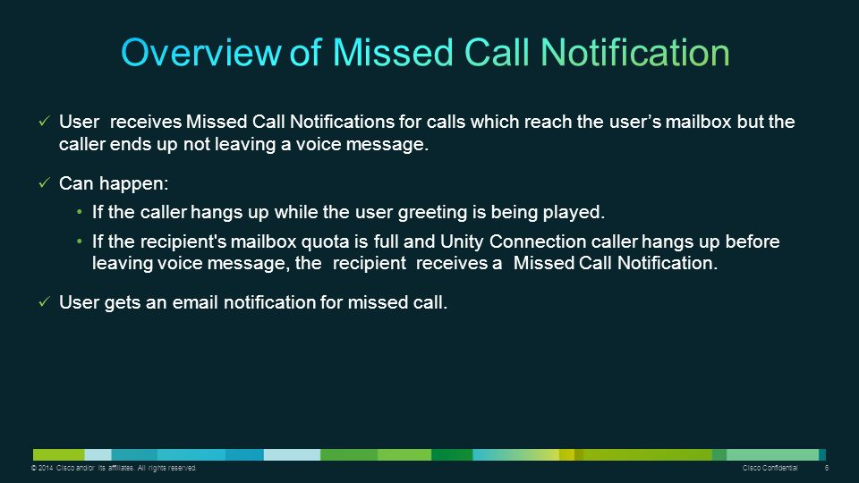 Overview Of Missed Call Notification