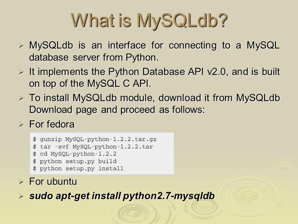 Python MySQL Database Access - ppt video online download