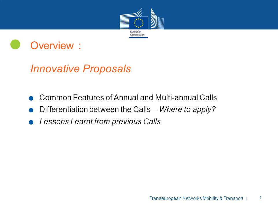 Overview : Innovative Proposals