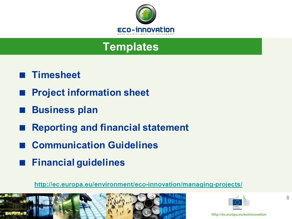 Templates Timesheet Project information sheet Business plan