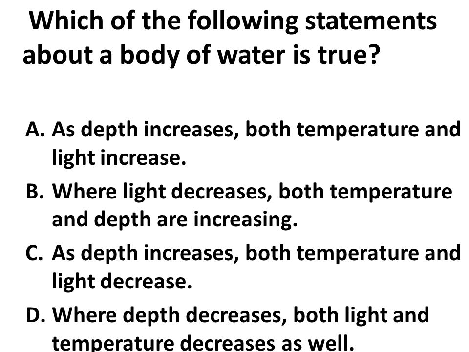 which of the following statements about online surveys is true factors affecting aquatic ecosystems ppt video online 5520