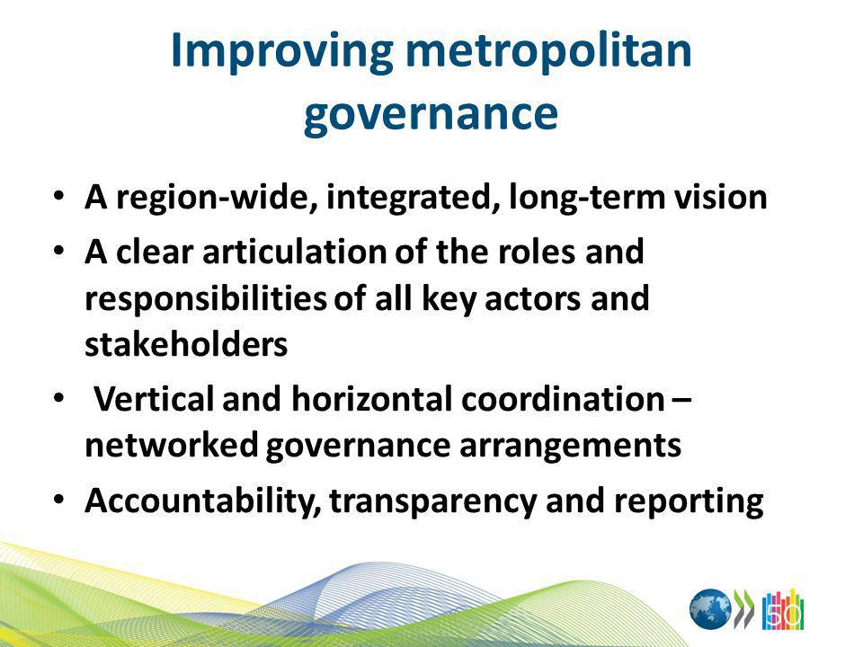 Improving metropolitan governance