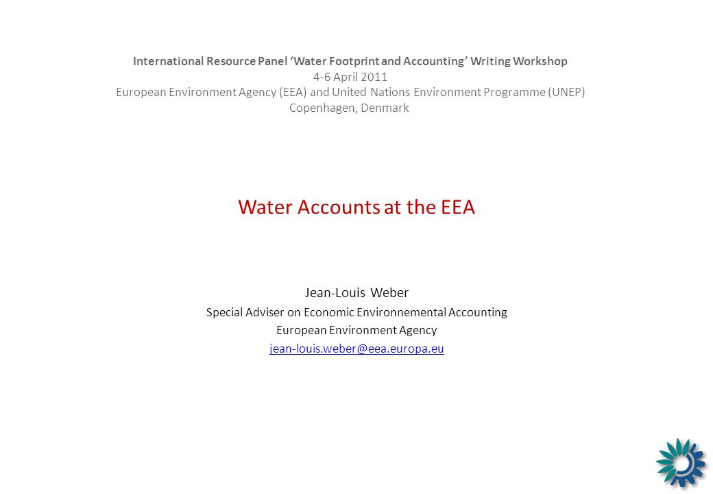 Water Accounts at the EEA