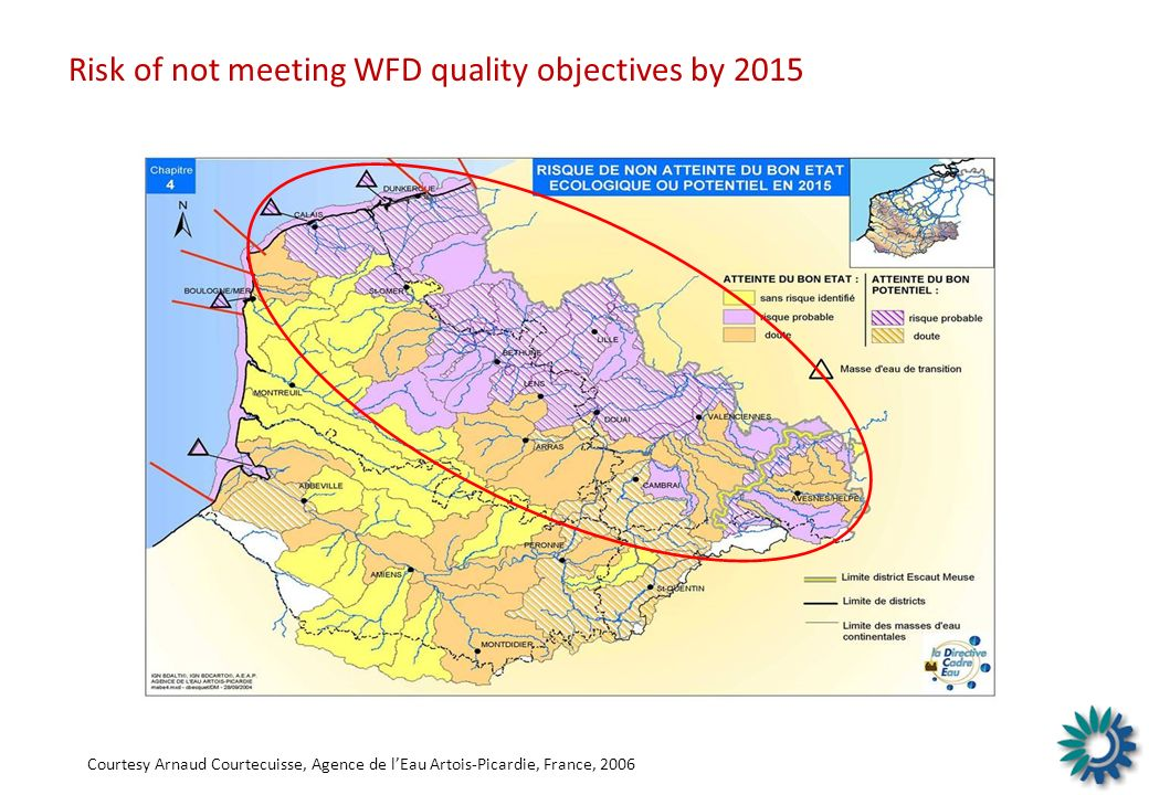 Risk of not meeting WFD quality objectives by 2015