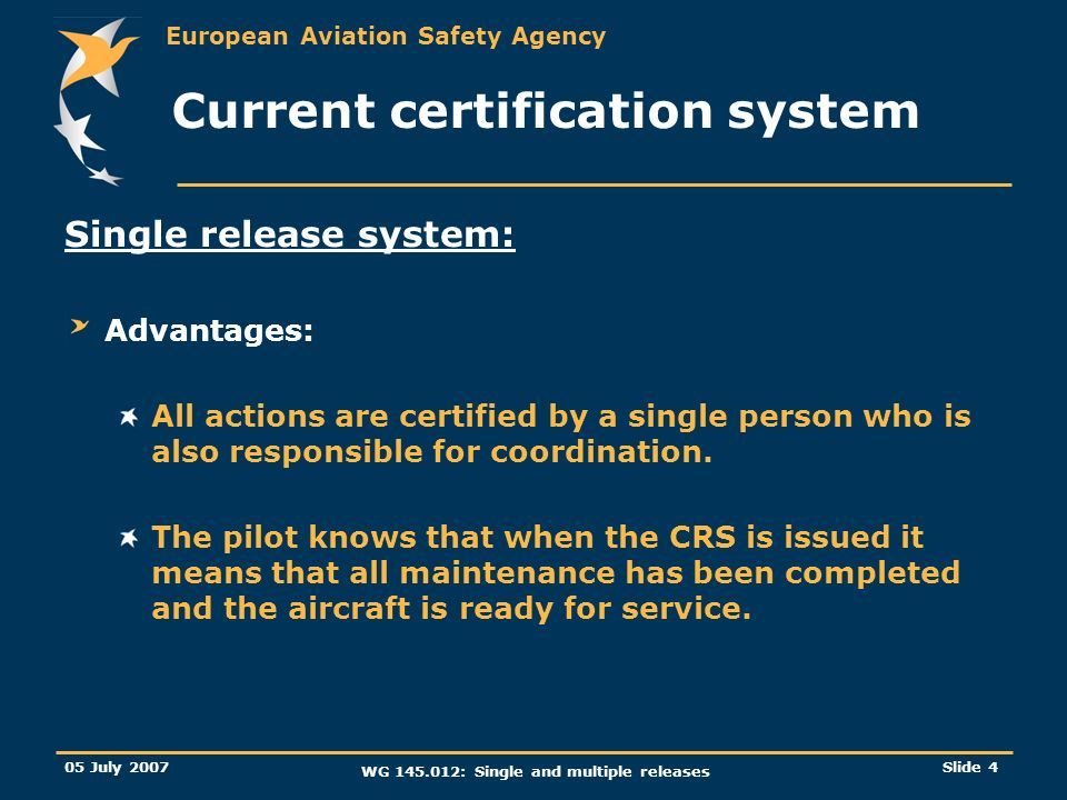 Current certification system