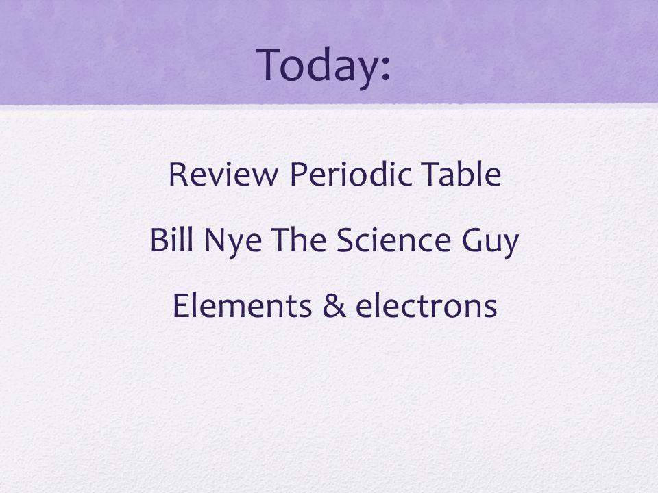 Review periodic table bill nye the science guy elements electrons review periodic table bill nye the science guy elements electrons urtaz Gallery