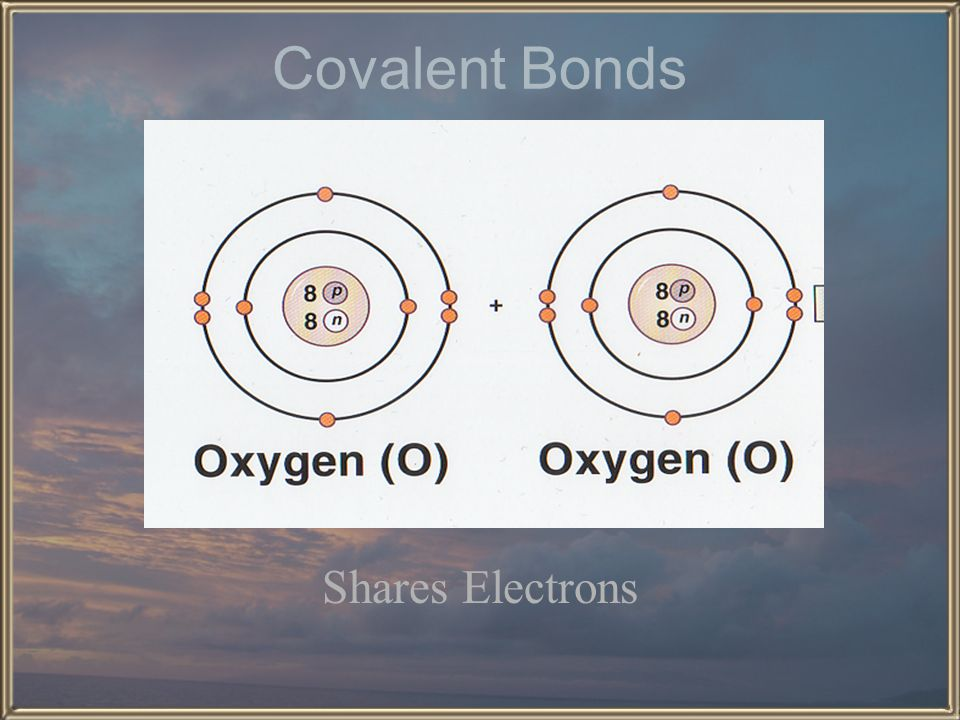 Covalent Bonds Shares Electrons