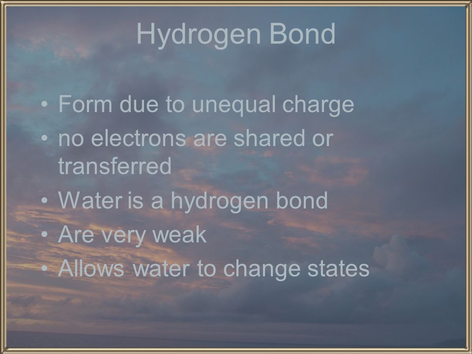 Hydrogen Bond Form due to unequal charge