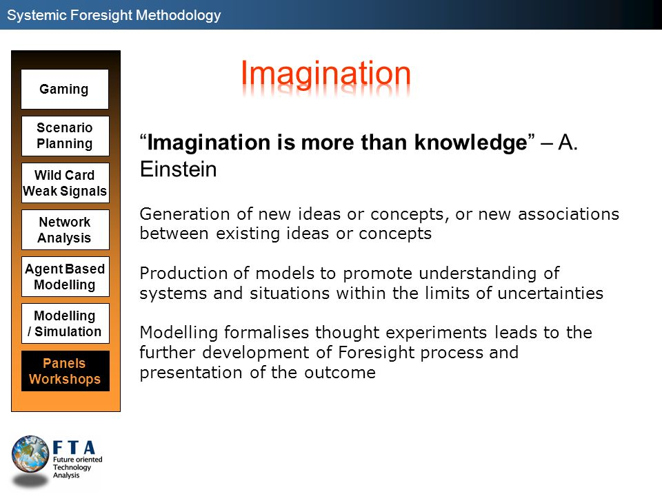 Imagination Imagination is more than knowledge – A. Einstein