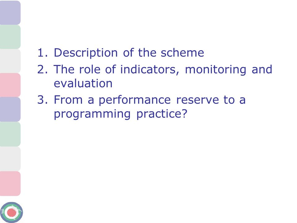 Description of the scheme