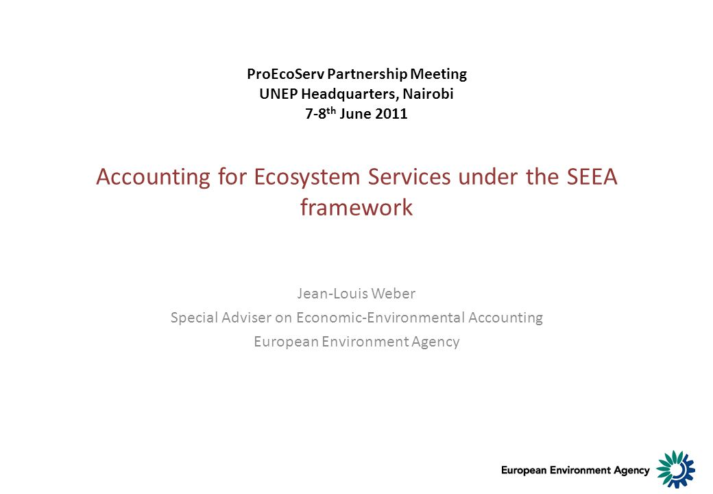 Accounting for Ecosystem Services under the SEEA framework