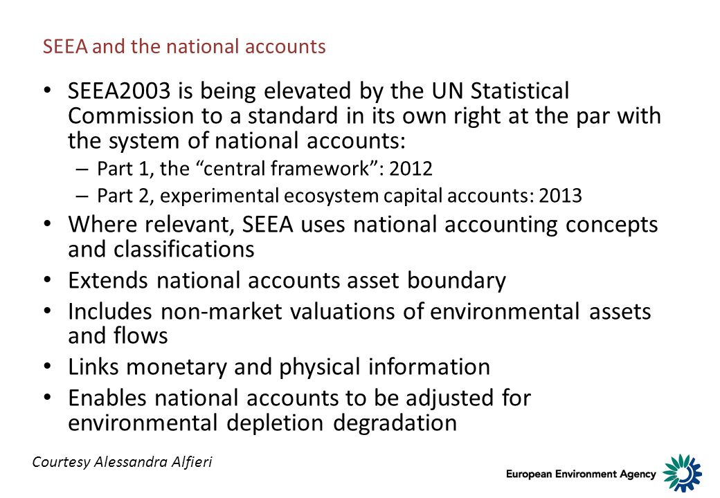 SEEA and the national accounts