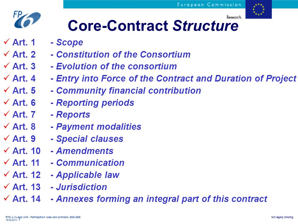 Core-Contract Structure