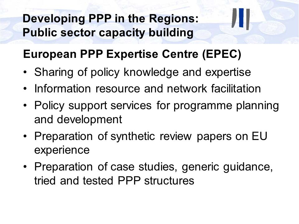 Developing PPP in the Regions: Public sector capacity building