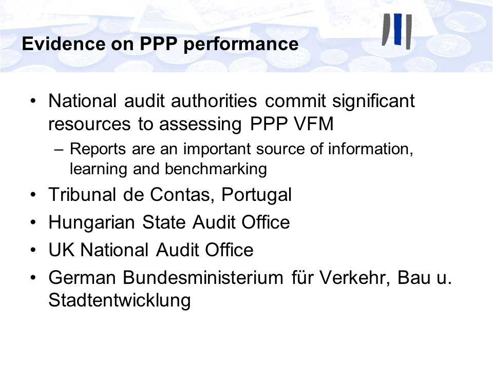 Evidence on PPP performance