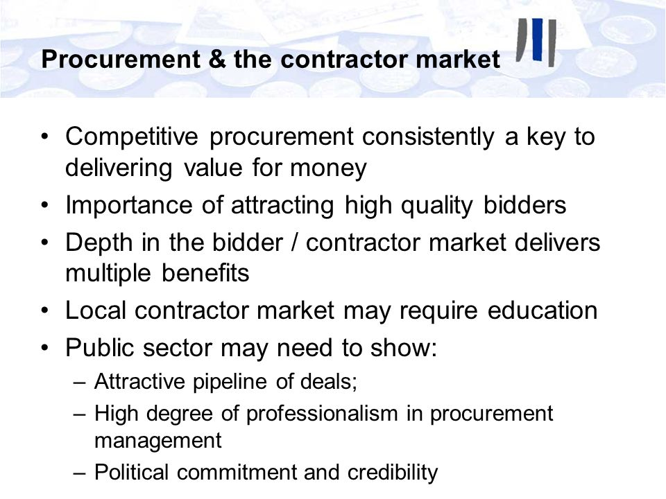 Procurement & the contractor market