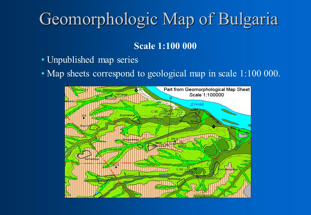 Geomorphologic Map of Bulgaria