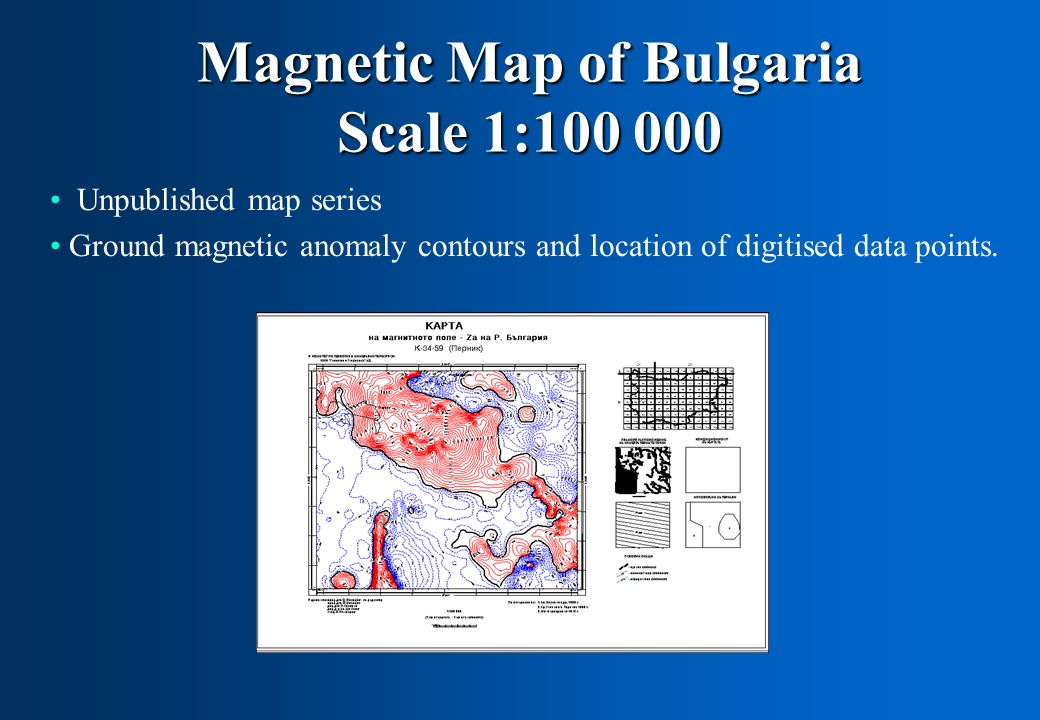 Magnetic Map of Bulgaria Scale 1:100 000