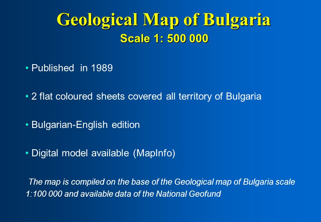 Geological Map of Bulgaria