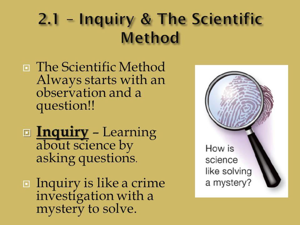 methods of inquiry in criminal investigation