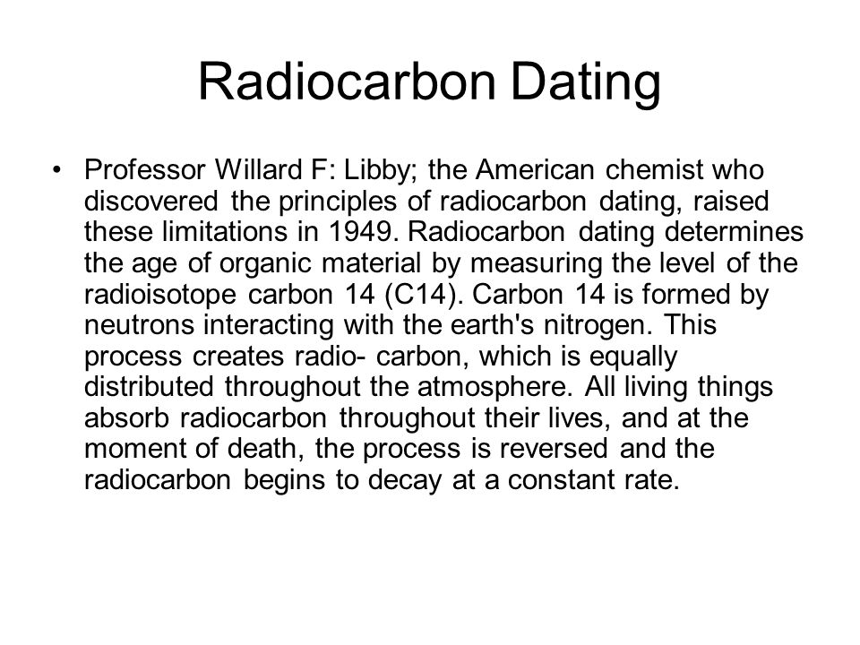 working principle of carbon dating