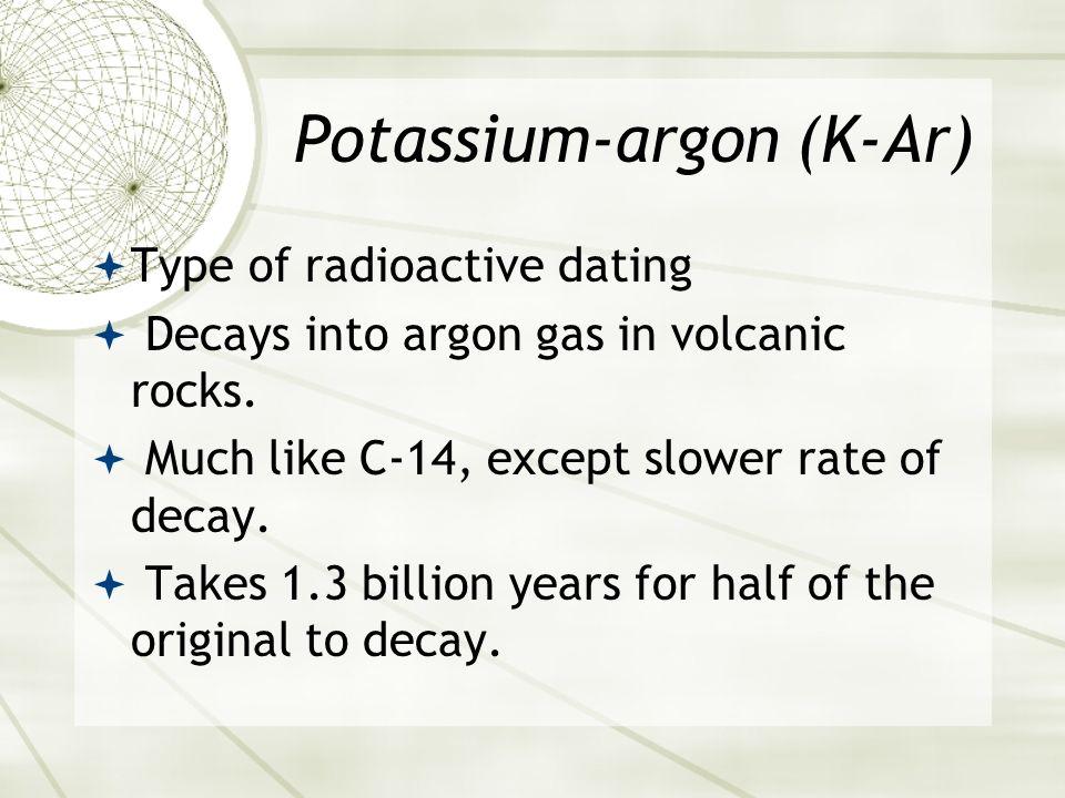 potassium argon dating of igneous rocks