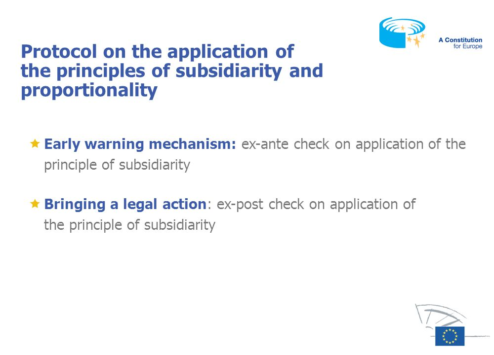 Protocol on the application of the principles of subsidiarity and proportionality
