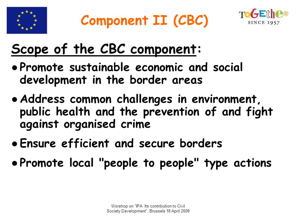 Scope of the CBC component: