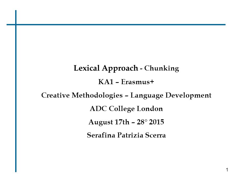Lexical Approach - Chunking - ppt download