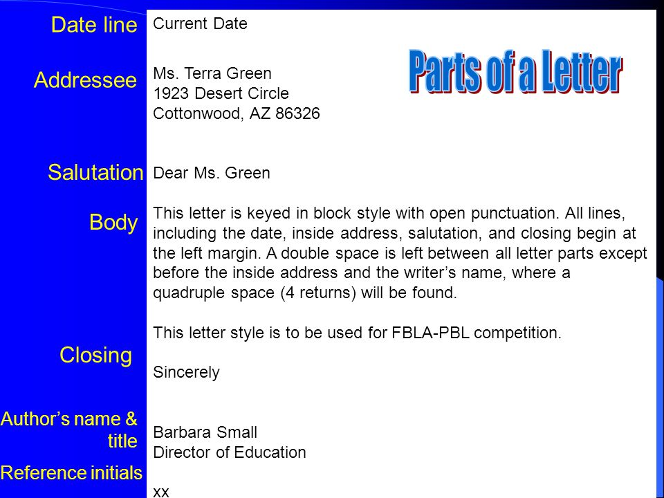 Formatting Block Letters ppt