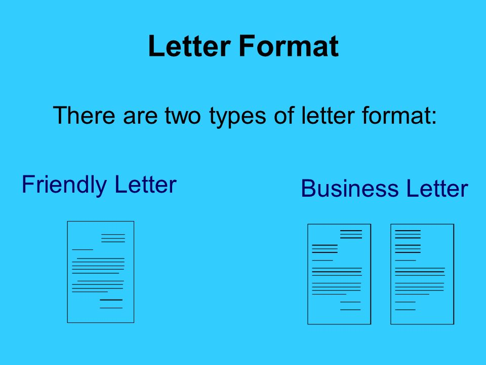there are two types of letter format