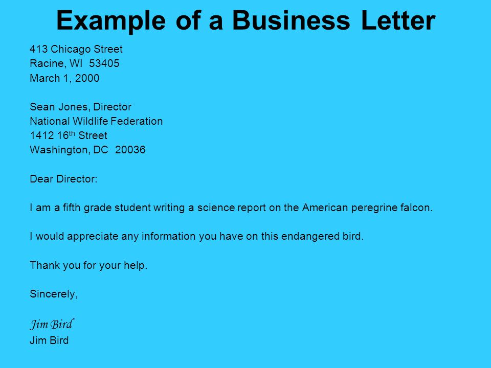 Business letter writing ppt video online download example of a business letter spiritdancerdesigns Image collections