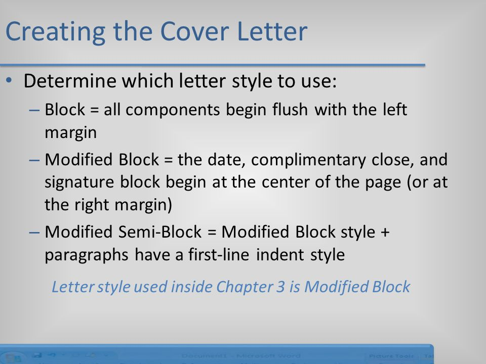 modified block cover letter