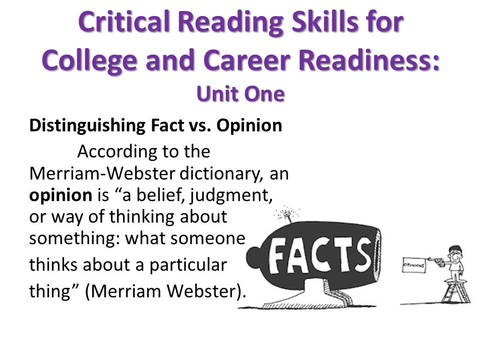 Printable Worksheets critical reading skills worksheets : Critical Reading Skills for College and Career Readiness: Unit One ...