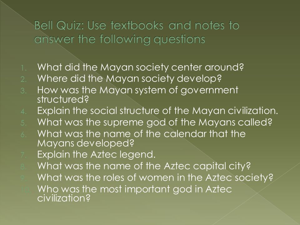 bell quiz  use textbooks and notes to answer the following