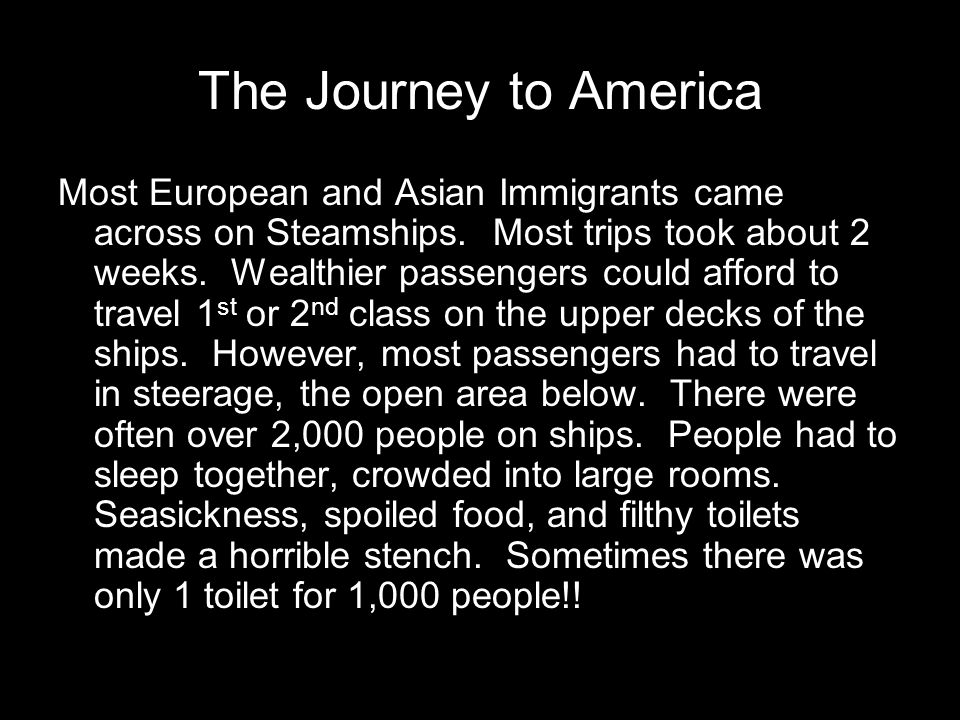 The Journey to America