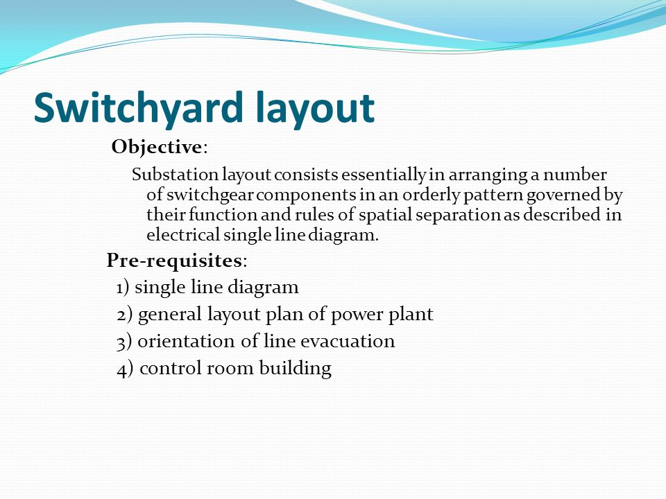 Power Plant Switchyard Layout | Wiring Diagram