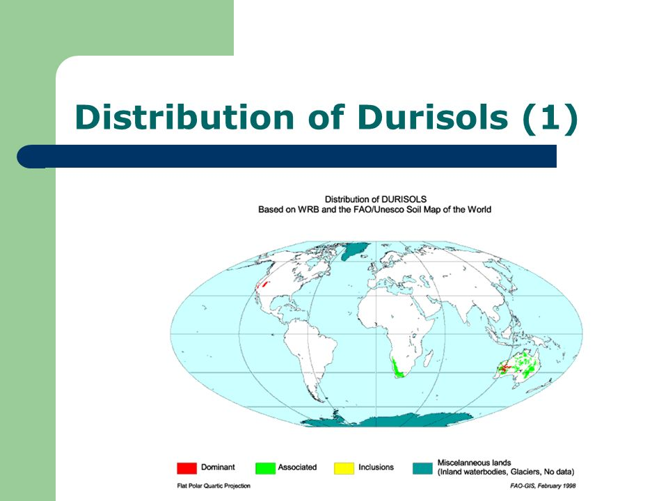 Distribution of Durisols (1)