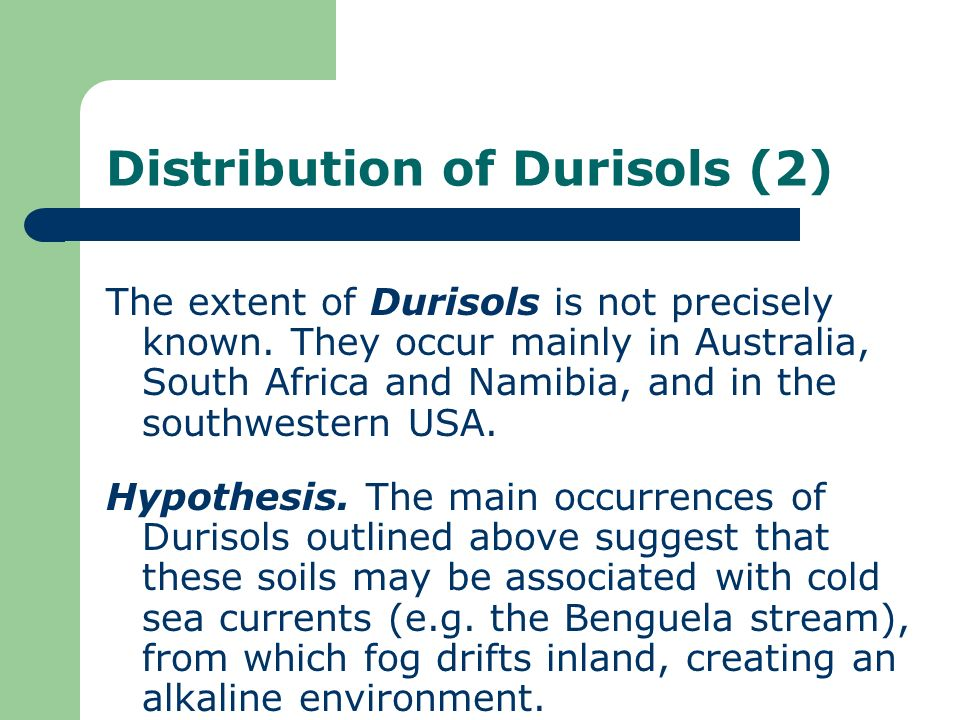 Distribution of Durisols (2)