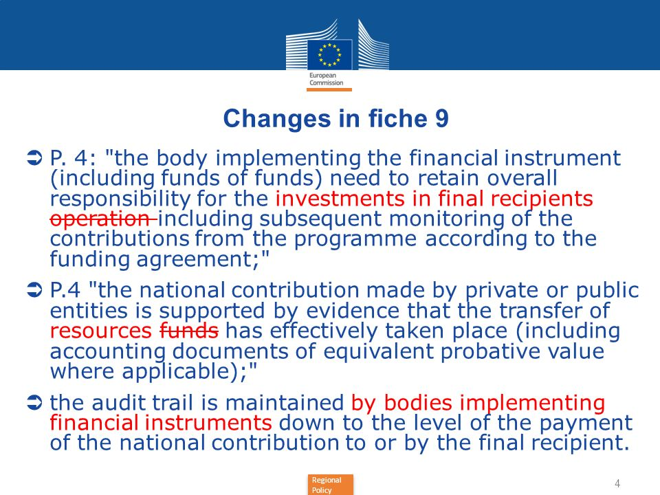 Changes in fiche 9