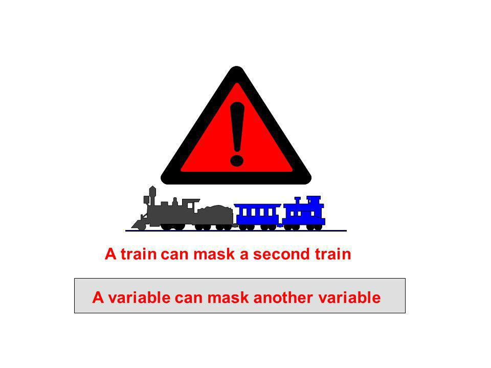 A train can mask a second train