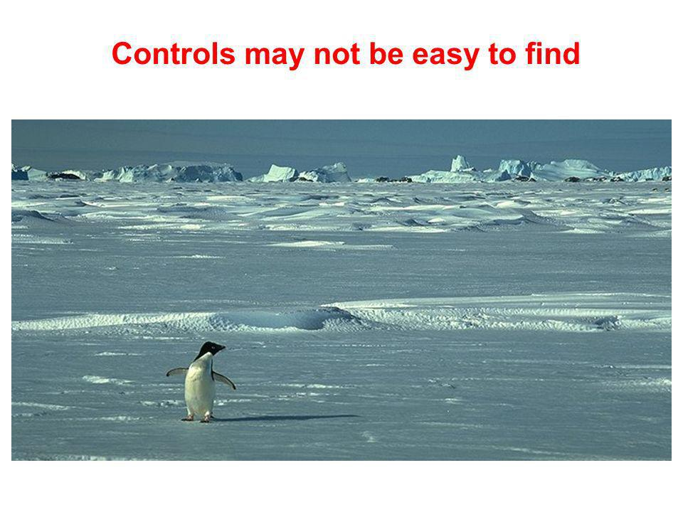 Controls may not be easy to find