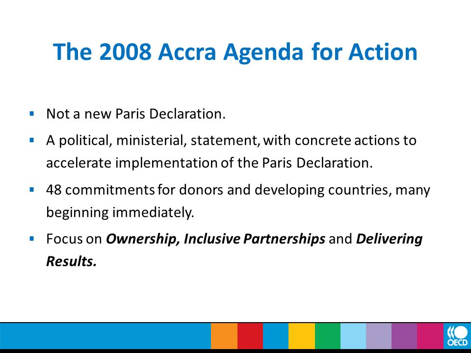 The 2008 Accra Agenda for Action