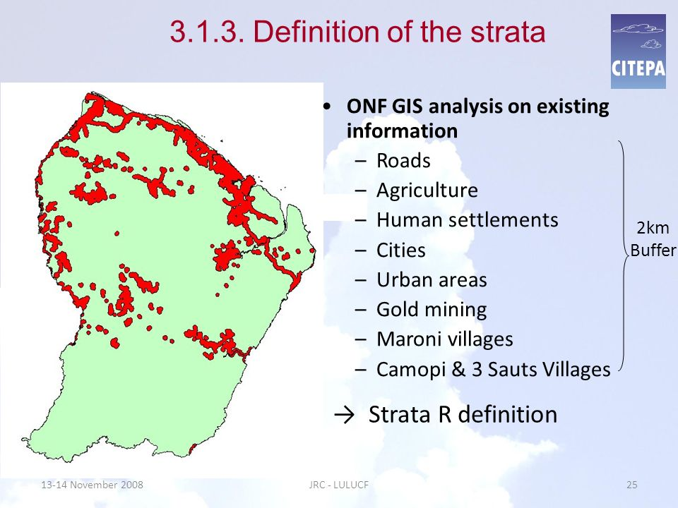 3.1.3. Definition of the strata