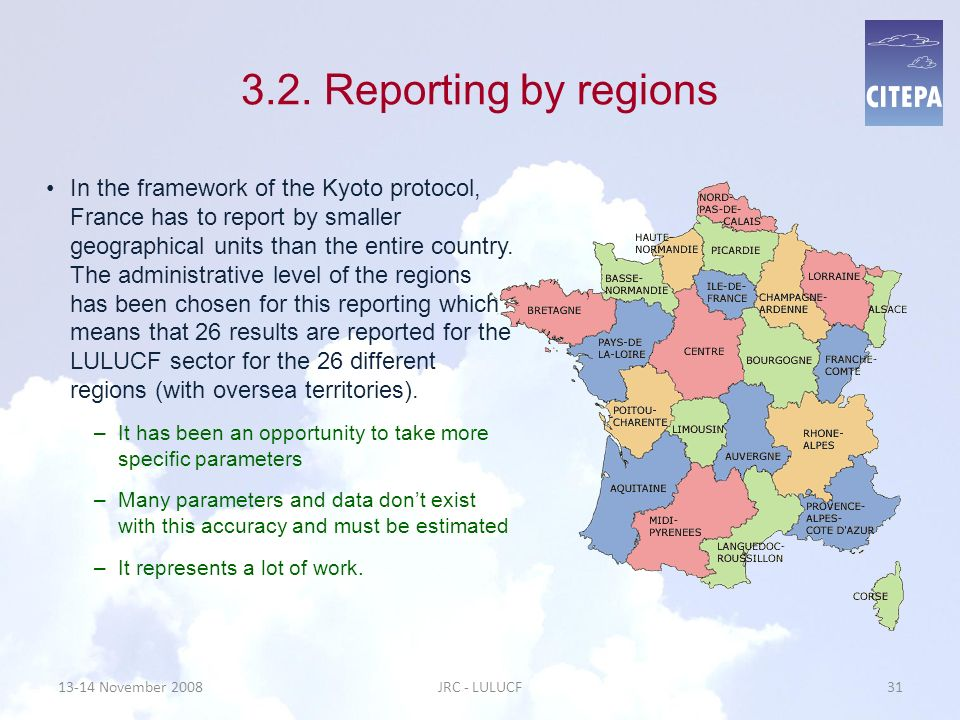 3.2. Reporting by regions