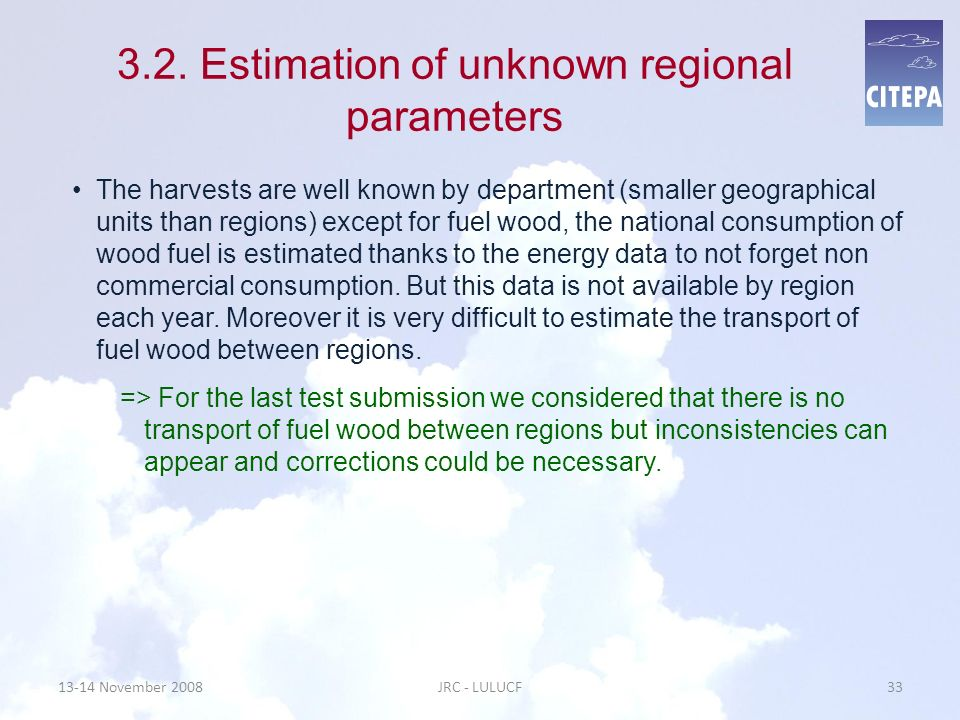 3.2. Estimation of unknown regional parameters