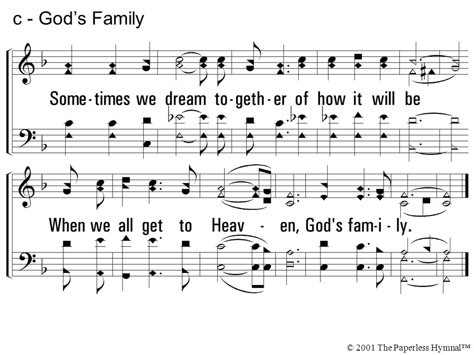 1 - God\'s Family 1. We\'re part of the family that\'s been born again ...